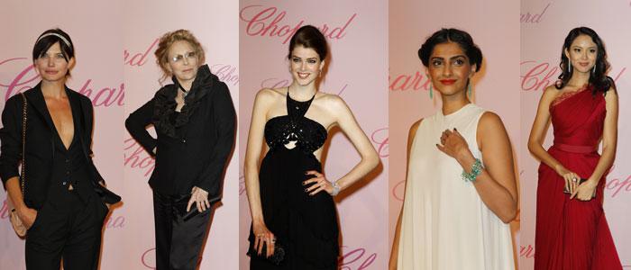 Delphine Chanac, Faye Dunaway, Julia Saner, Sonam Kapoor, Zhang Zilin